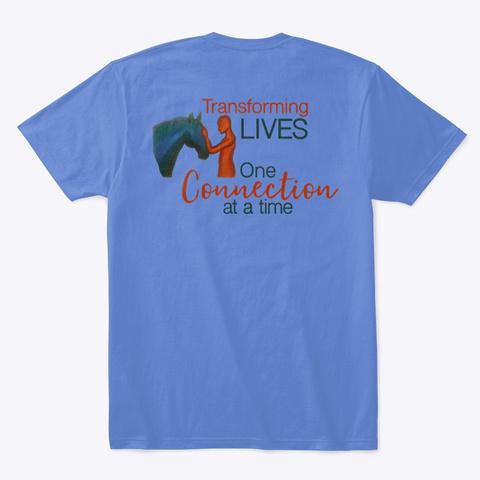 Back Transforming Lives Tees Heathered Royal  T-Shirt Back