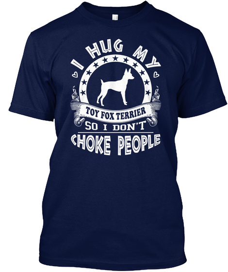 Toy Fox Terrier Navy T-Shirt Front