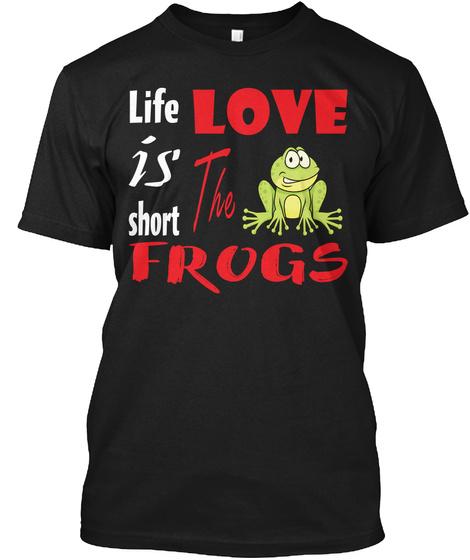 Frog Frog Art 09 Black T-Shirt Front