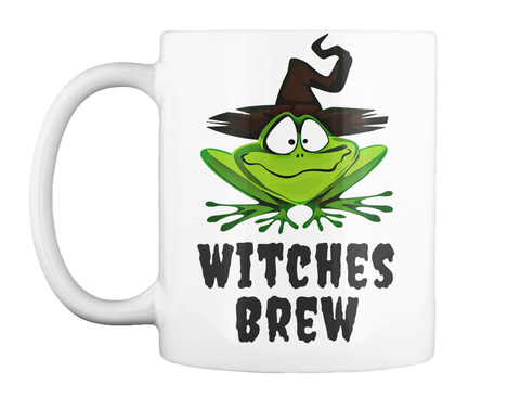 Halloween Witches Brew White T-Shirt Front