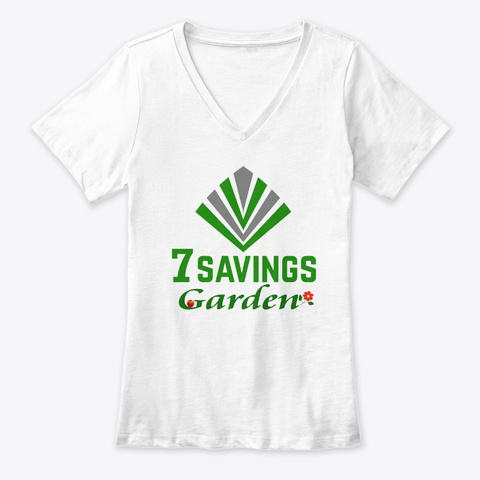 7 Savings Garden  White T-Shirt Front