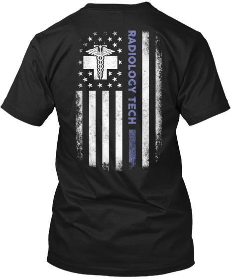 T Radiology Tech Black T-Shirt Back