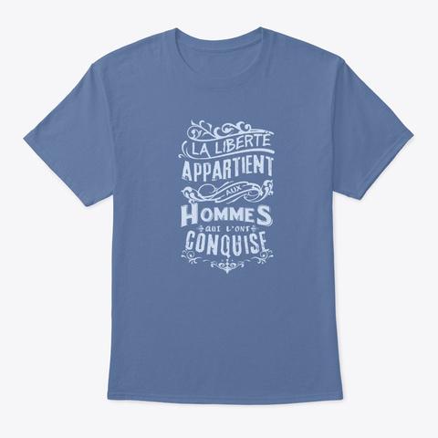 La Liberté Denim Blue T-Shirt Front