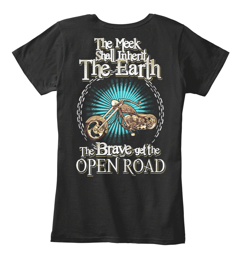The-Open-Road-Only-Brave-Women-039-s-Premium-Tee-T-Shirt thumbnail 3