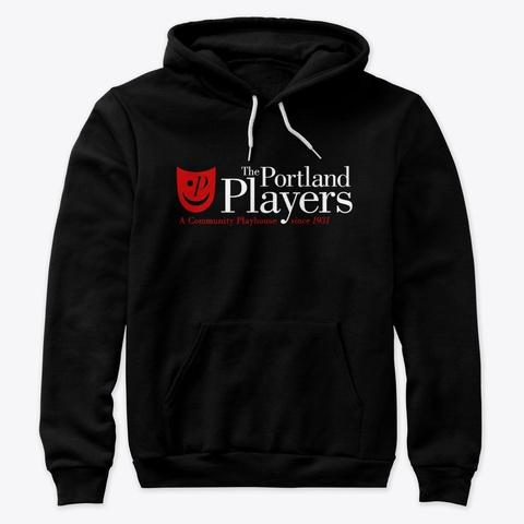 Portland Players Logo Black T-Shirt Front