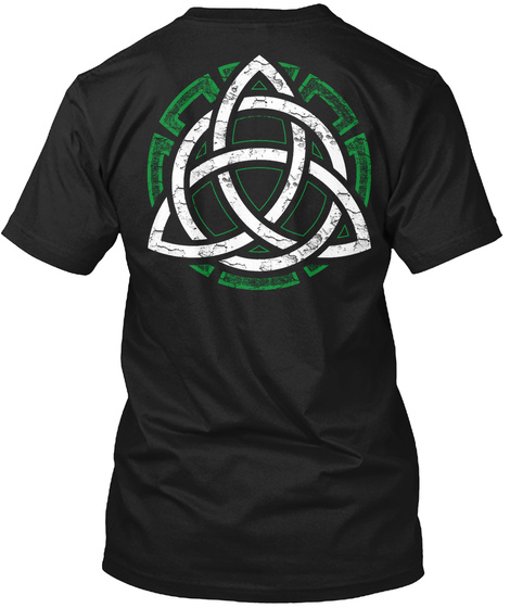 Celtic Knot Design  Black T-Shirt Back