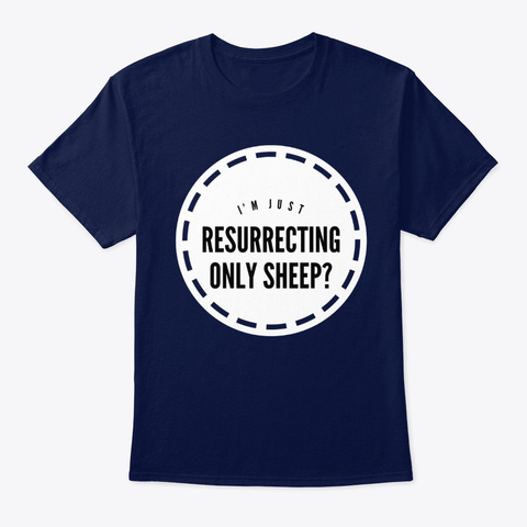 Hearthstone Resurrecting Only Sheep Navy T-Shirt Front