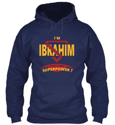 Ibrahim Navy Sweatshirt Front