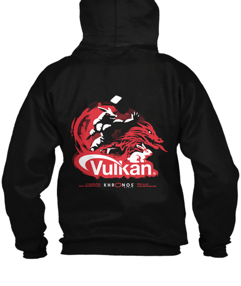 Vulkan Khr Nos Black Sweatshirt Back