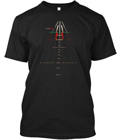 Runway  Night View Black T-Shirt Front