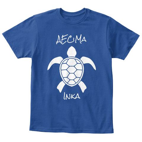 Aecma Inka Deep Royal  T-Shirt Front