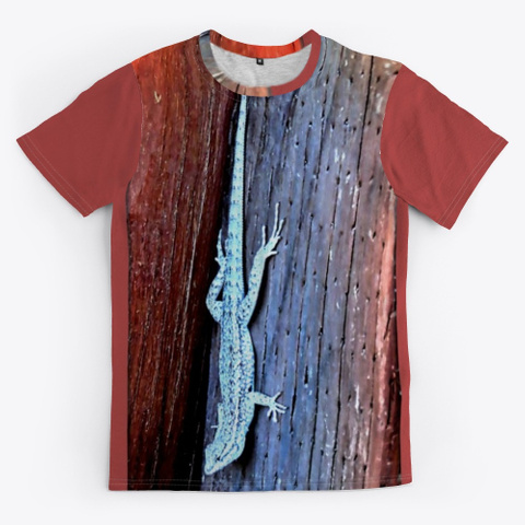 Side Blotched Lizard Burgundy T-Shirt Front
