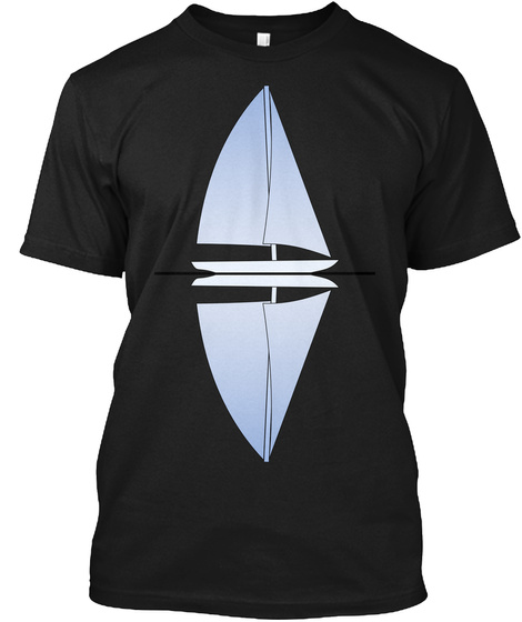 Reflection Black T-Shirt Front