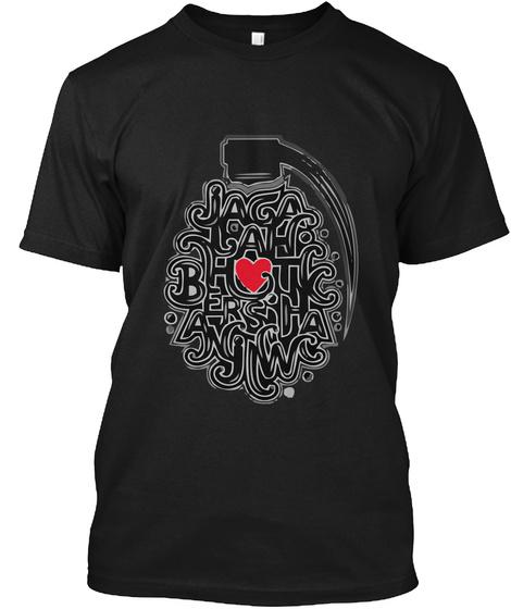 Jaga Hati Black T-Shirt Front