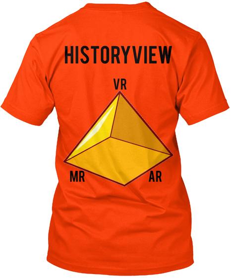 History View Vr Mr Ar Orange T-Shirt Back