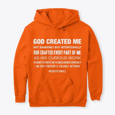 #52 Devotionals I Am God's Masterpiece  Safety Orange T-Shirt Front