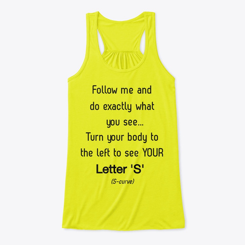 Become S Curvish Neon Yellow T-Shirt Front