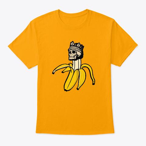 Banana Death Peeled Back Gold T-Shirt Front