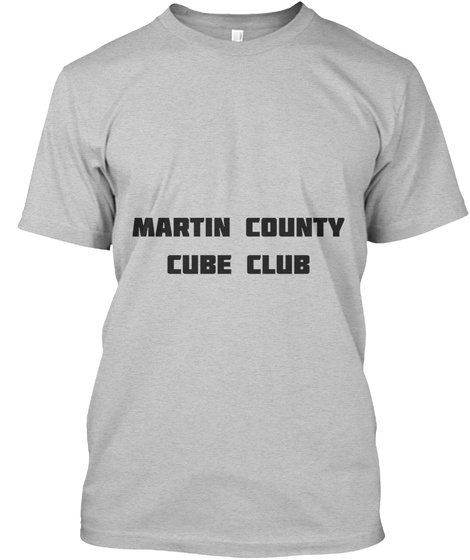 Adult Martin County Cube Club Shirt Light Heather Grey  T-Shirt Front