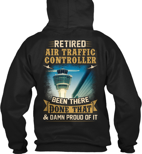 Air Traffic Controller Christmas Special Black T-Shirt Back
