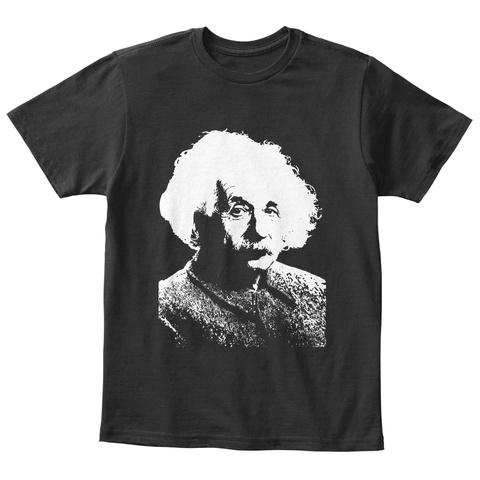 Einstein Universe Stupidity Kids Black T-Shirt Front