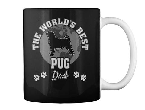 The World's Best Pug Dad Black Mug Back