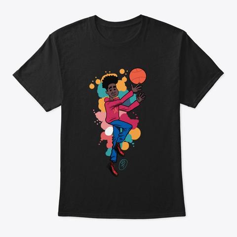 Tj Character Basketball Tee Black T-Shirt Front