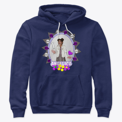 I Heart Angelica Shirts, Hoodies, &More! Navy T-Shirt Front