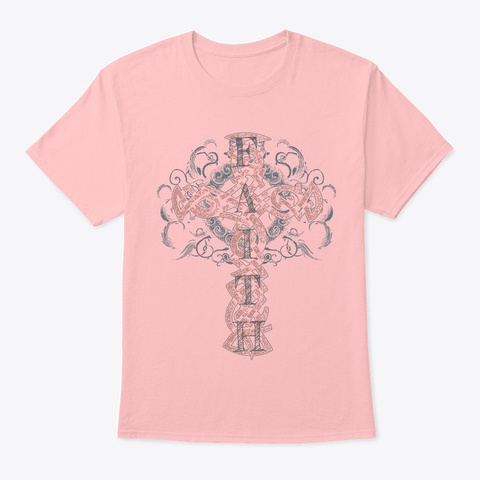 Faith Shirt Pale Pink T-Shirt Front