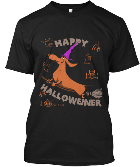 Happy Halloween Black áo T-Shirt Front