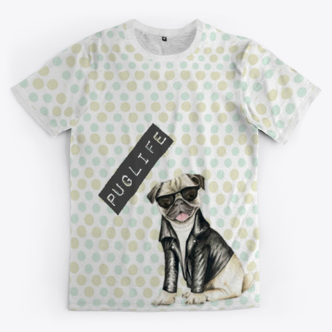 Puglife With Dots Standard T-Shirt Front