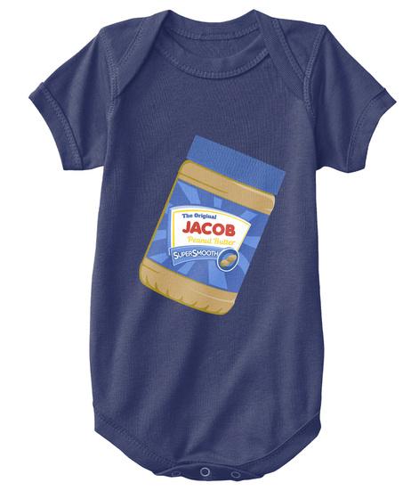 Jacob The Original Peanut Butter Navy  T-Shirt Front