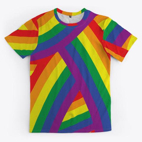 Rainbow Flag Lgbtq Gay Lesbian Pride Standard T-Shirt Front