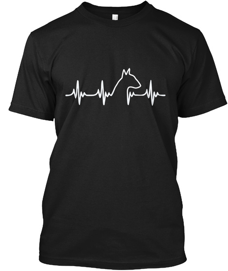 Limited Edition   Bull Terrier Heart Black T-Shirt Front