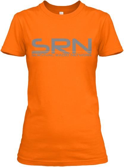Srn Survival Radio Network Orange T-Shirt Front
