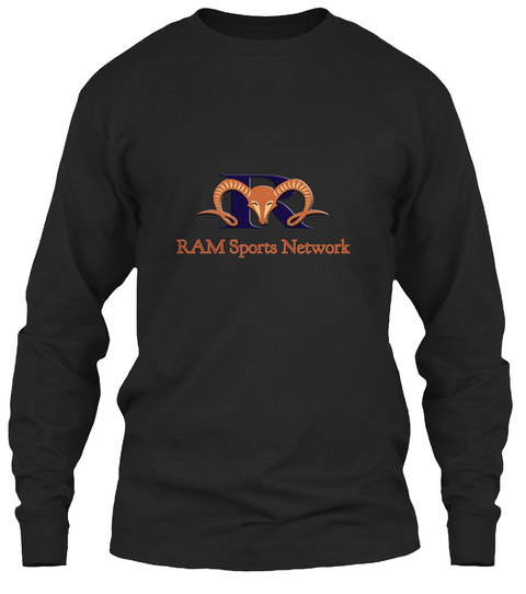 Ram Sports Network Black Long Sleeve T-Shirt Front