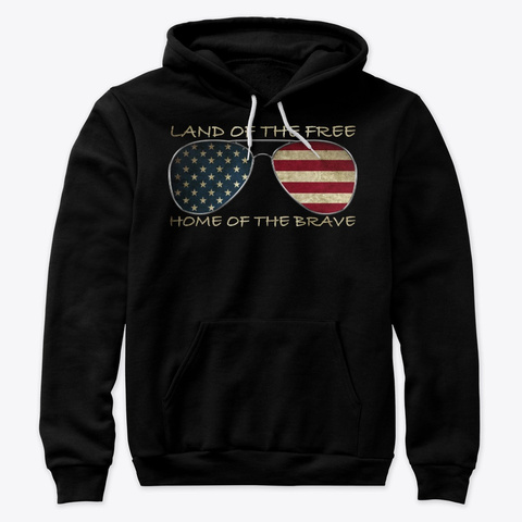 Land Of The Free Black T-Shirt Front