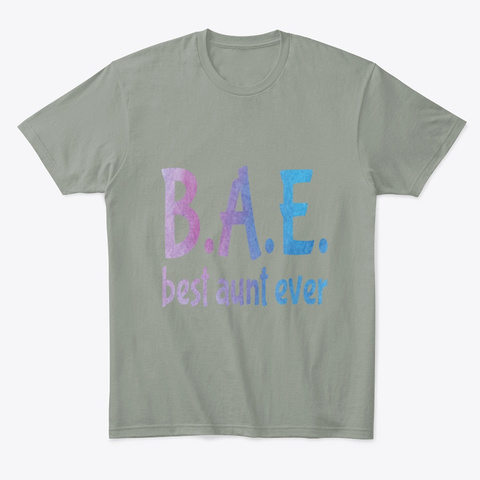 Womens Funny Cute Bae Best Aunt Ever Grey T-Shirt Front