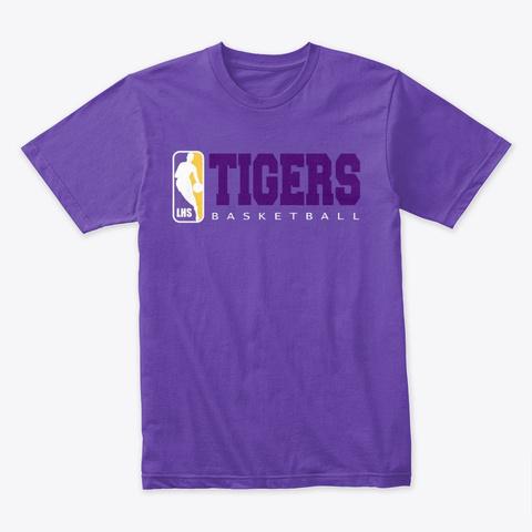 Tigers Basketball Purple Rush T-Shirt Front