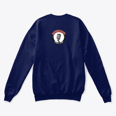 Governor's Comedy Club Sweatshirt Navy  T-Shirt Back