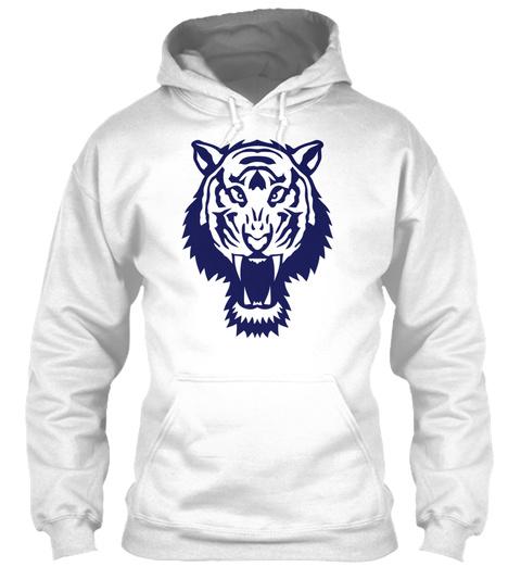 Tiger Wild Animal 1106 White T-Shirt Front