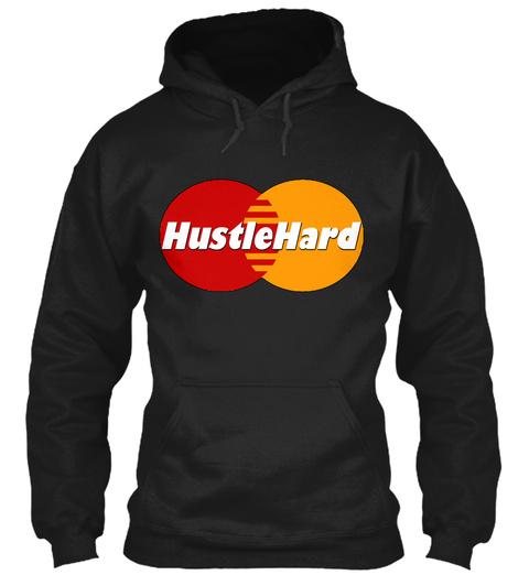 Hustlehard Black T-Shirt Front