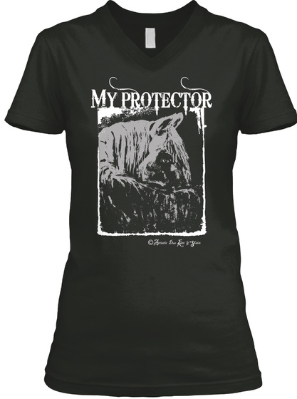 My Protector Ii Black T-Shirt Front
