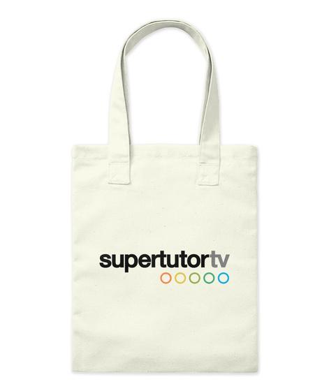 Supertutor Tv Merch! Natural T-Shirt Front