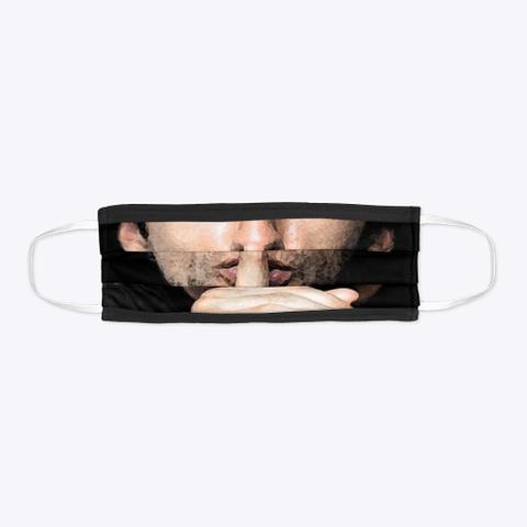 Silence Mask Black T-Shirt Flat