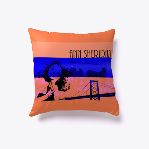 Vintage Pop Art Throw Pillow Coral T-Shirt Front