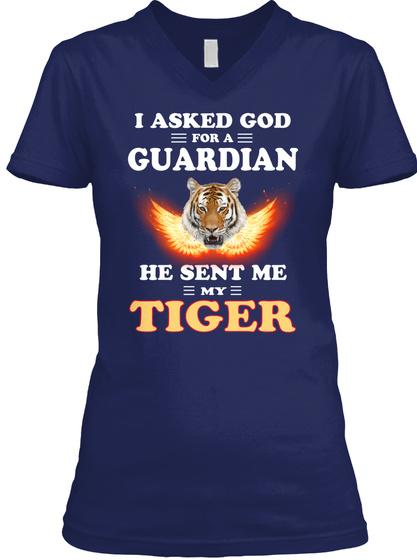 Tiger Breed Lover Navy T-Shirt Front