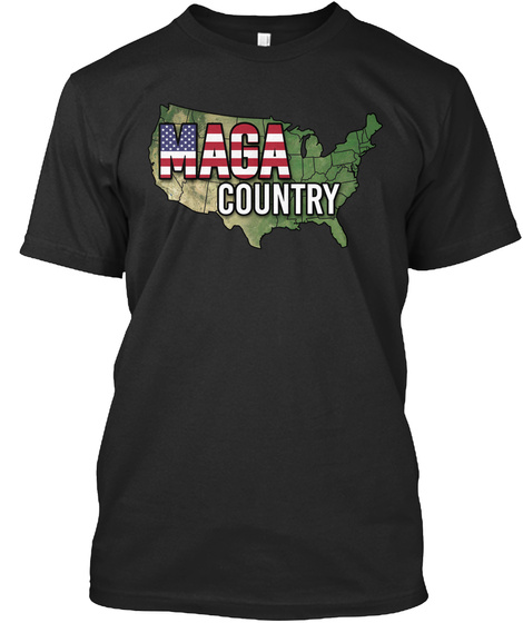 Maga Country Black T-Shirt Front