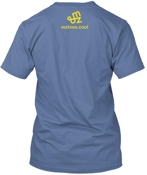 Googol, Typed Denim Blue T-Shirt Back