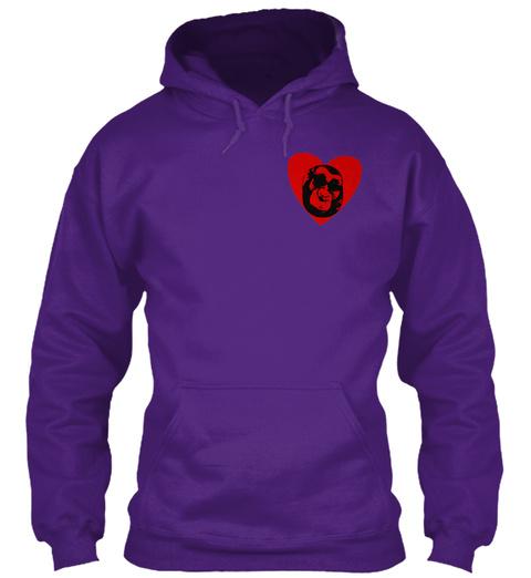 Heart Of Deaf Women Live Laugh Love Purple T-Shirt Front